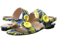 Boutique Moschino Tropic Button Sandal Blue Green