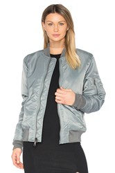 Schott Nylon Flight Jacket Gray