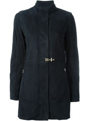 Fay Sheepskin Short Coat Blue