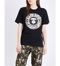 Aape By A Bathing Ape Stamp Cotton Jersey T Shirt Black