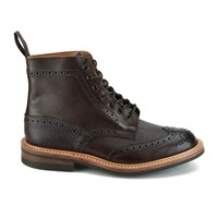 Knutsford By Tricker's Men's Stow Leather Brogue Boots Dark Brown