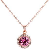 Ted Baker Sela Crystal Daisy Pendant Necklace Rose Gold Pink