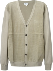 Faconnable Faconnable Perforated Leather Panel Cardigan