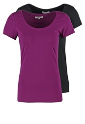 Zalando Essentials 2 Pack Basic Tshirt Black Purple