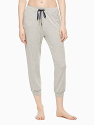 Kate Spade Modal Terry Relaxed Sweatpant Light Heather Gray