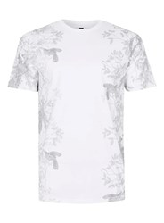 Topman Black And White Floral Print Slim Fit T Shirt