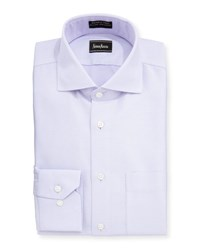 Neiman Marcus Classic Fit Non Iron Diamond Print Dress Shirt Light Purp