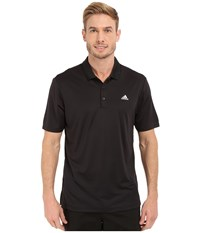 Adidas Branded Performance Polo Black Men's Short Sleeve Pullover