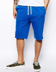 Asos Jersey Shorts In Longer Length Brightblue