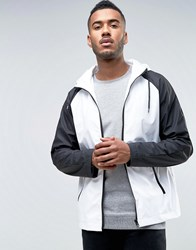 D Struct Water Resistant Festival Monochrome Jacket With Hood Black