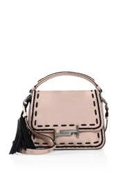 Tod's Stitch Detailed Double T Leather Messenger Bag Pink
