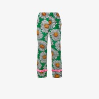 Gucci Daisy Pajama Trousers Green