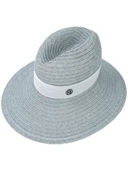 Maison Michel Panama Hat Women Straw S Grey
