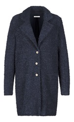 Sandwich Boucle Coat Navy
