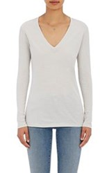 Barneys New York V Neck Long Sleeve T Shirt Grey