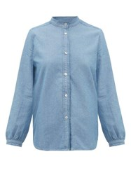 A.P.C. Antoinette Cotton Chambray Shirt Light Blue