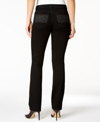 Charter Club Lexington Embroidered Straight Leg Jeans Only At Macy's Saturated Black