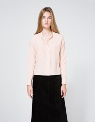 Margaret Howell Wide Placket Shirt In Pink
