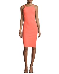 La Petite Robe Di Chiara Boni Marie Laure Sleeveless Sheath Cocktail Dress Apricot