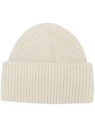 Golden Goose Deluxe Brand Ribbed Wool Beanie White