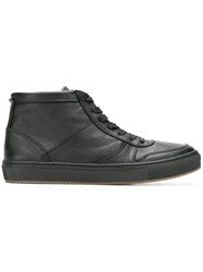 Tommy Hilfiger Hi Top Leather Sneakers Black