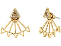 Rebecca Minkoff Two Part Triangle Earrings Gold Earring