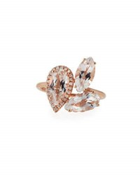 Suzanne Kalan White Topaz And Diamond Cluster Ring In 14K Rose Gold