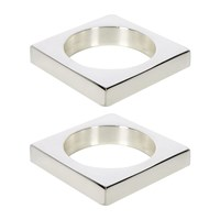 Sir Madam Silver Plated Brass Napkin Rings Set Of 2