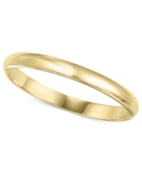 Macy's 14K Gold 2Mm Wedding Band No Color