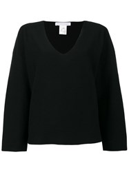 Fabiana Filippi V Neck Loose Fit Jumper Black