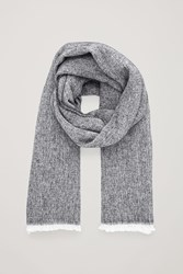 Cos Cotton Wool Scarf Black