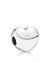 Pandora Design Pandora Clip Sterling Silver Steady Heart Moments Collection Silver Clear