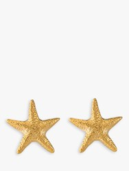 Alex Monroe Starfish Stud Earrings Gold