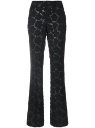 Marni Floral Quilted Trousers Cotton Nylon Polyester Black