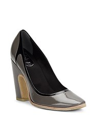 Roger Vivier Two Tone Patent Leather Pumps Grigio