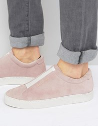 Religion Gusset Suede Trainers Pink