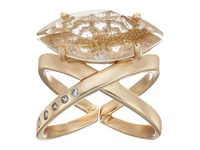 Kendra Scott Rosemary Ring Rose Gold Gold Glass White Cz Ring
