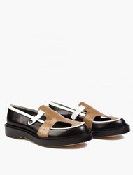 Adieu Panelled Cut Out Leather Loafers