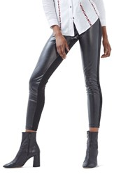 Topshop Women's Faux Leather And Ponte Leggings