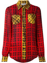 Moschino Tartan Check Shirt Multicolour