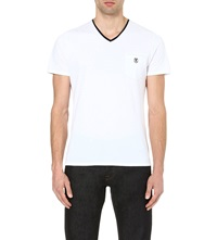 The Kooples Embroidered Pocket T Shirt White