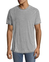 Civil Society Garment Burnout Curve Hem T Shirt Gray