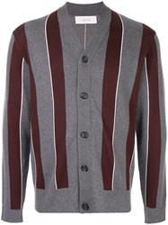 Cerruti 1881 Striped Cardigan Grey