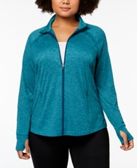 Ideology Plus Size Zip Jacket Aquatic Teal