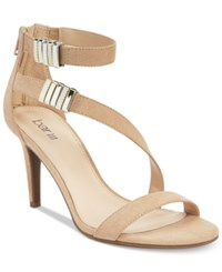 Bar Iii Hillary Ankle Strap Asymmetrical Dress Sandals Only At Macy's Women's Shoes Natural