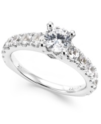 Macy's Certified Diamond Engagement Ring In 14K White Gold 2 Ct. T.W.