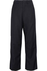 Vetements Brioni Cropped Wool Twill Pants Navy