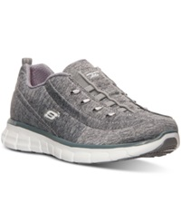 Skechers Women's Synergy Positive Outcome Wide Width Walking Sneakers From Finish Line Gray