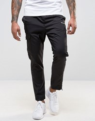 Ellesse Skinny Joggers With Reflective Piping Black