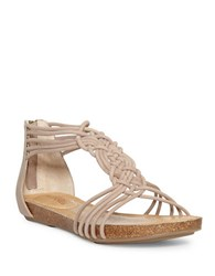 Me Too Cali Leather Sandals Taupe